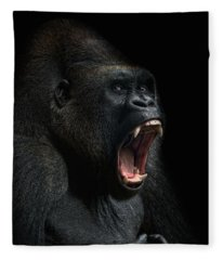 Gorilla Fleece Blankets