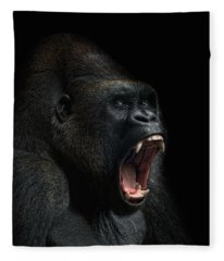 Gorilla Photographs Fleece Blankets