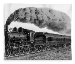 Steam Locomotive No. 999 - C. 1893 Fleece Blanket