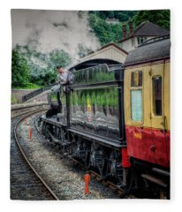 Steam Train 3802 Fleece Blanket