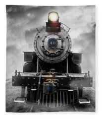 Fleece Blanket featuring the photograph Steam Train Dream by Edward Fielding