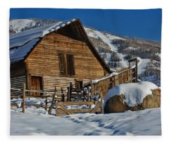 Steamboat Barn Fleece Blanket