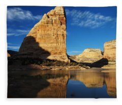 Steamboat Rock In Dinosaur National Monument Fleece Blanket