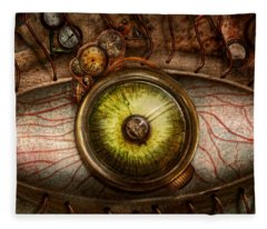 Steampunk - Creepy - Eye On Technology  Fleece Blanket