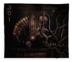 Steampunk - Electrical - Rotary Switch Fleece Blanket