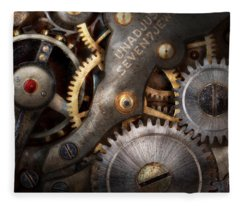 Steampunk - Gears - Horology Fleece Blanket