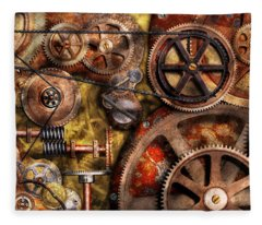 Steampunk - Gears - Inner Workings Fleece Blanket