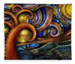 Steampunk - Starry Night Fleece Blanket