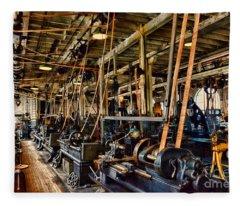 Steampunk - The Age Of Industry Fleece Blanket