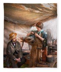 Steampunk - The Apprentice Fleece Blanket