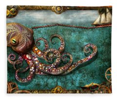 Steampunk - The Tale Of The Kraken Fleece Blanket