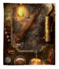 Steampunk - Victorian Fuse Box Fleece Blanket
