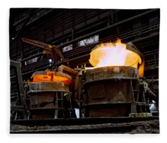 Steel Industry In Smederevo. Serbia Fleece Blanket
