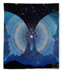 Stellar Butterfly Fleece Blanket