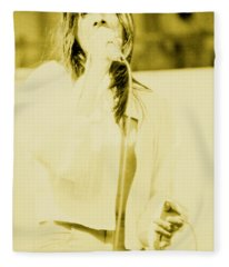 Steve Perry Of Journey At Day On The Green - July 27th 1980 Fleece Blanket