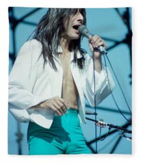 Steve Perry Of Journey At Day On The Green - July 1980 Fleece Blanket