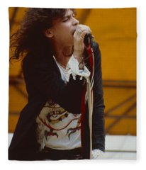 Steven Tyler Of Aerosmith At Monsters Of Rock In Oakland Ca Fleece Blanket