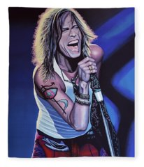 Steven Tyler 3 Fleece Blanket