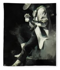 Stevie Ray Fleece Blanket