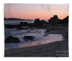 Stewart's Cove At Sunset Fleece Blanket