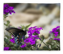 Still Beautiful Swallowtail Fleece Blanket