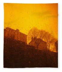 Stockholm The Heights Of South In Silhouette Fleece Blanket