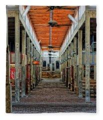 Stockyard Mall Fleece Blanket