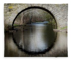 Stone Arch Bridge - Craquelure Texture Fleece Blanket