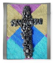 Stone Cross Fleece Blanket