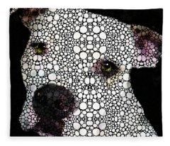 Stone Rock'd Dog By Sharon Cummings Fleece Blanket
