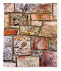 Stone Wall 1 Fleece Blanket