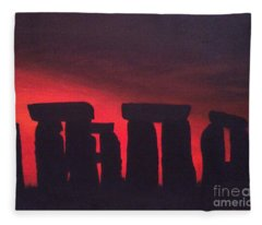 Stonehenge At Dusk Fleece Blanket