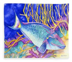 Stoplight Parrotfish Fleece Blanket