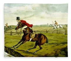 Stopping At Water From Qualified Horses And Unqualified Riders Fleece Blanket