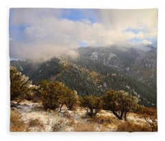 Storm Atop Oquirrhs Fleece Blanket