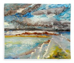 Storm Coming At Austinmer Beach Fleece Blanket