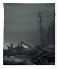 Storm Aftermath Fleece Blanket