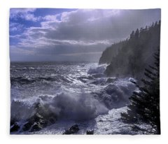 Storm Lifting At Gulliver's Hole Fleece Blanket
