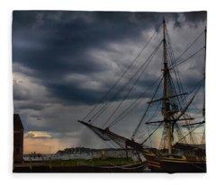 Storm Passing Salem Fleece Blanket