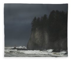 Storm At Lapush Washington State Fleece Blanket