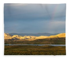 Stormy Sky With Rays Of Sunshine Fleece Blanket