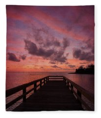 Stormy Sunset Fleece Blanket