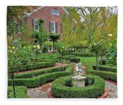 Stranahan Estate Garden 2245 Fleece Blanket
