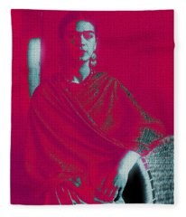 Strange Frida Fleece Blanket