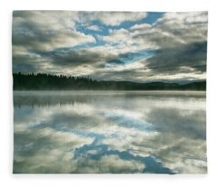 Stratocumulus Clouds At Sunrise Fleece Blanket