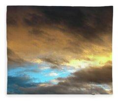 Stratus Clouds At Sunset Bring Serenity Fleece Blanket