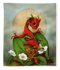 Strawberry Dragon Fleece Blanket