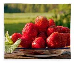 Strawberry Fields Fleece Blanket