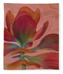Fleece Blanket featuring the painting Strawberry Flapjack by Sandi Whetzel