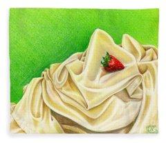 Strawberry Passion Fleece Blanket